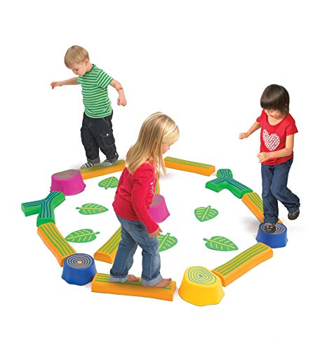 Edx Education Step-a-Forest - in Home Learning Supplies for Kids Physical Play - 22 Piece Obstacle Course - Indoor and Outdoor - Exercise and Gross Motor Skills