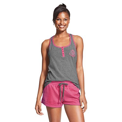 U.S. Polo Assn. Womens Pajama Sets Racerback Tank and Shorts Sleepwear PJs Set Charcoal Heather Large