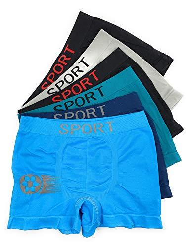 Laake 6 Jungen Unterhosen Kinder Unterwäsche Retro-Pants Boxer Shorts Uomo Sportwäsche Gr 104-164 Design: Fussball (Fussball-01, 152-164)