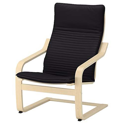 POÄNG Sessel Birkenfurnier Hillared Anthrazit 68x82x100 cm langlebig und pflegeleicht Stoffsessel Sessel und Chaiselongues. Sofas & Sessel Möbel Umweltfreundlich. 68x82x100 cm Knisa Schwarz