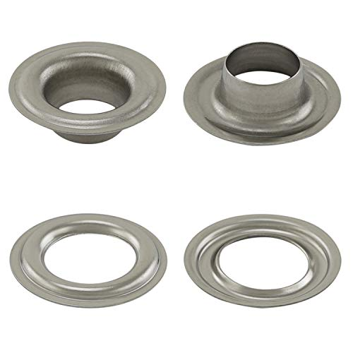 GETMORE Parts - Ojales según DIN 7332 (autocortados), para Textil, Tela, Cuero, Lonas, Cortinas, Tiendas de campaña, 50 Unidades