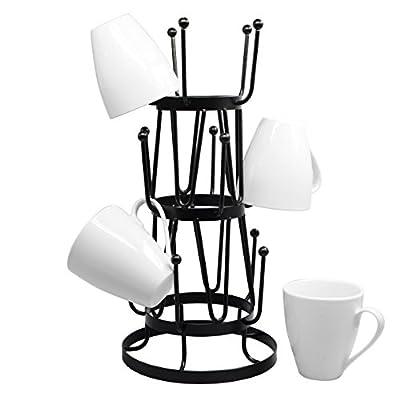 Stylish Steel Mug Tree Holder Organizer Rack Stand by Neat-O