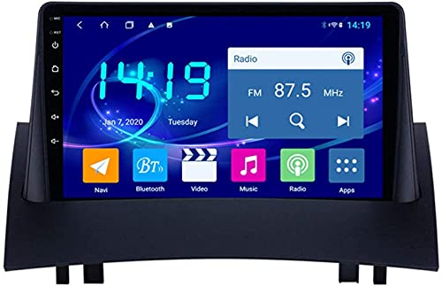 AEBDF Navegación estéreo para Coche Android 9,1 para Renault Megane 2,9 Pulgadas, navegación por satélite, Pantalla táctil, Reproductor Multimedia,8Core WiFi+4G 4+64 DSP+Carplay
