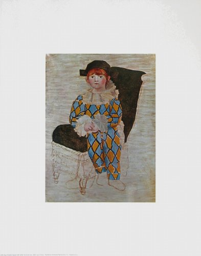 Kunstdruck / Poster Pablo Picasso - Der Sohn des Künstlers, 1924 - 57.4 x 72.5cm - Premiumqualität - Klassische Moderne, figurativ, Paolo. Harlekin, Clown, Zirkus, Treppenhaus - MADE IN GERMANY - ART-GALERIE-SHOPde