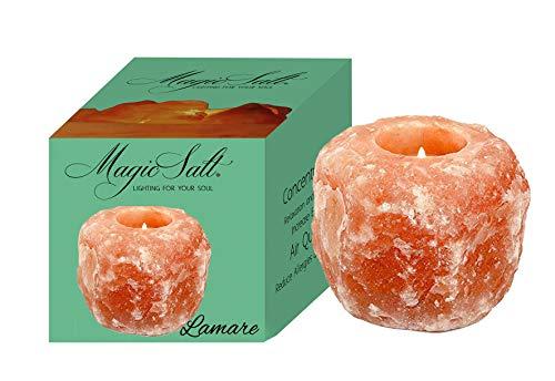 LAMARE Portavelas de Sal del Himalaya - Magic Salt® Lighting For Your Soul.
