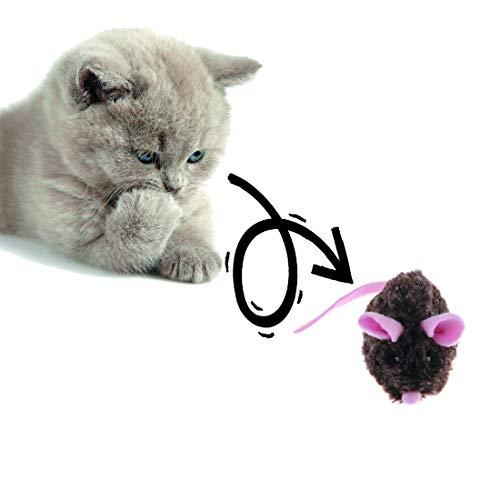 Vealind GiGwi Automatisches Bewegliches Mausspielzeug Katzenspielzeug mit Lebensechter Klang (Pink)