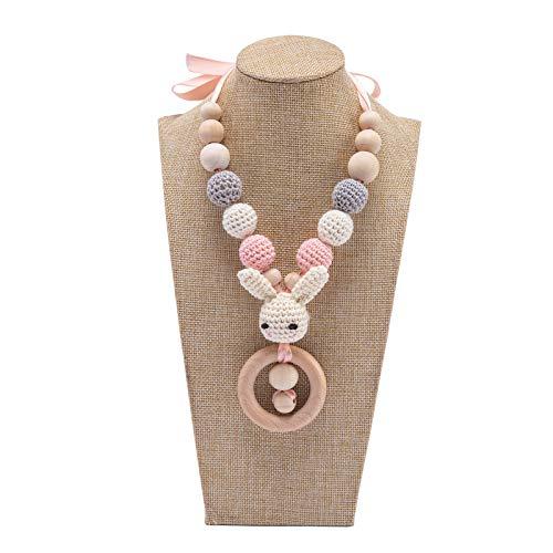 Mamimami Home 1pc Baby Stillen Halskette Mutter Fütterungskette Kinderkrankheiten Halskette Zahnungshilfe Baby Beißring Baby