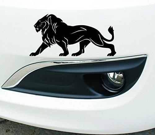 T-JPCT Autocollants côté Voiture Autocollant de Voiture personnalisé Autocollants Voiture Tirer la Fleur Avant et arrière Autocollants Voiture Pare-Chocs gratter Voiture Lion, Rouge