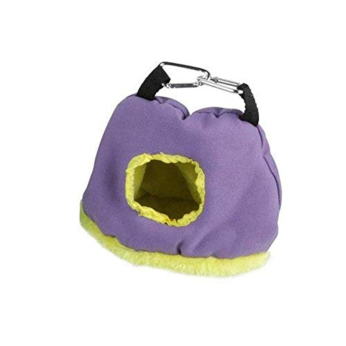 Pet Bed Finch Cage Fluffy Fluffy Bird Parrot Hut Warm Bird Hanging In Nest House Shed Hammock Parrot Habitat Cave Hanging Tent Pet Nest Dog Bed (Color: Green, Size: 20 * 13 * 21cm)