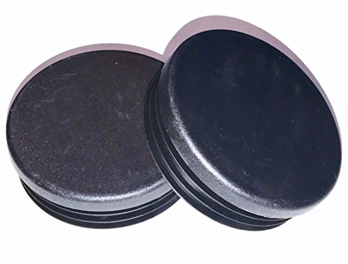 """(Pack of 4) 3"""" OD Round Plastic Cap Plugs   (14-18 Ga - Fits ID 2.83"""" to 2.90"""")   3 Inch Tube Wrangler Bumper End Caps   Fence Post Slide Insert"""