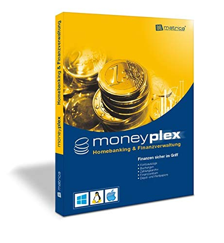 moneyplex 20 PRO: Homebanking Finanzverwaltung für Windows, Linux, macOS: Homebanking Finanzverwaltung fr Windows, Linux, macOS
