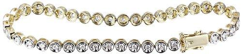 Goldmaid Damen-Armband Memoire-Tennisarmband 375 Gelbgold 40 weiße Zirkonia Schmuck