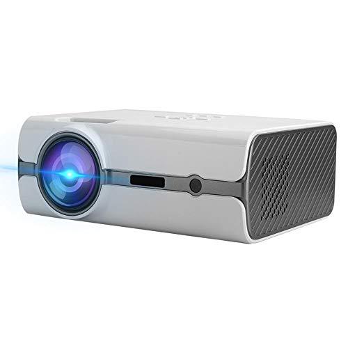 T angxi Mini Home Video Projector, 720P/1080P Mini Portable Wireless Same Screen Projector, USB/SD/HDMI/VGA/AV&TV WiFi Video Projector Home Cinema Projector with Remote Control(White US)