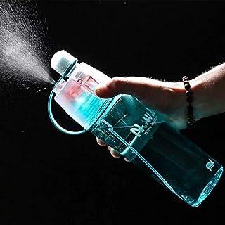 Rocketkart Water Mist Spray Bottle, 2 in 1 Drink and Mist Water Bottle, Sports Spray Water Bottle Straw Outdoor Bicycle Wa...