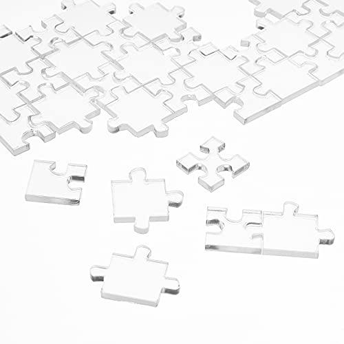 FINGERINSPIRE 108 piezas transparente Jigsaw Puzzle Clear Jigsaw Puzzle Desafío más difícil juego de rompecabezas para niños adultos juguete para aliviar el estrés (10 × 7 pulgadas)