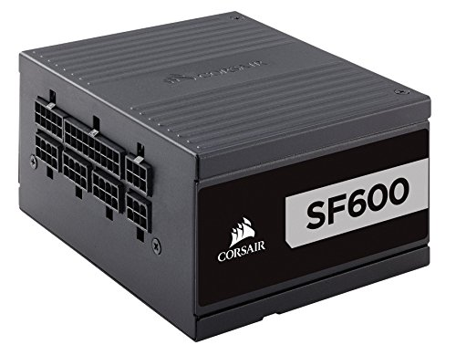 Corsair SF Series, SF600, 600 Watt, SFX, 80+ Platinum Certified, Fully Modular Power Supply (CP-9020182-NA)