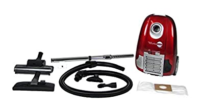 Atrix - Turbo Red HC1-AMZ Canister Vacuum with 6 Quart HEPA Filter and Variable Speed Motor