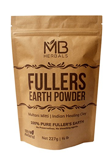 MB Herbals Fullers Earth Powder 227 Gram | Half Pound | Pure Fullers Earth Powder | Multani Mud Mitti | Indian Healing Clay | Bentonite Clay | No Bleaching Agents | No Chemicals | No Added Fragrance