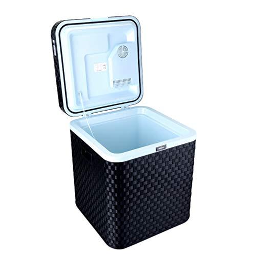 LIU UK Car Refrigerator Refrigerador De 48 litros para Autos Casa PortáTil De Doble Uso Mini Congelador FrigoríFico para Apartamentos Y CalefaccióN De 12v / 220v - Negro