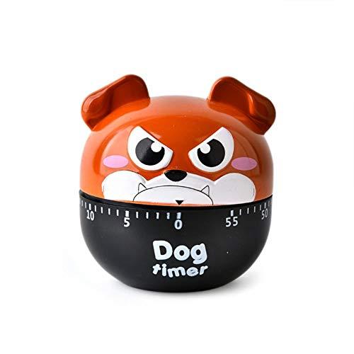 ALIXIN-Cartoon Dog Machinery Timers,60 Minutos Mecánica Reloj de Cocina Contadores de alarmas ruidosas Temporizador Manual Utensilio de Cocina,Alarma para Hornear Dormir Recordar los Relojes. (Rojo)