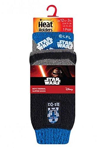 HEAT HOLDERS® - 2 Paar Kinder rutschfeste Socken mit Motiv, Farbe star wars, Größe 27-31