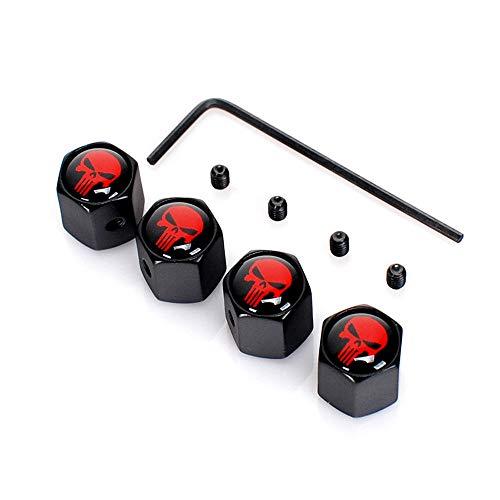 Minleer 4 Pezzi Tappi valvola Anti-furto, Ruota del Pneumatico del Pneumatico Ruota Auto Tappi Auto coperchi Stelo Copertura della Polvere