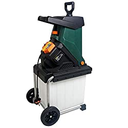 Large wheels for ease of manoeuvrability,6 meter power cable Large 50 Litre integrated collection box, Easy view of bin when full 2500 watt motor turning out 4050 RPM, With the safety cut out switch Will shred up to 40mm thick branches