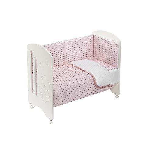 INTERBABY - Cuna Lovely Premium con Textil Estrella Mar Rosa