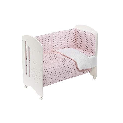 Cuna Lovely Premium con Textil Estrella Mar Rosa