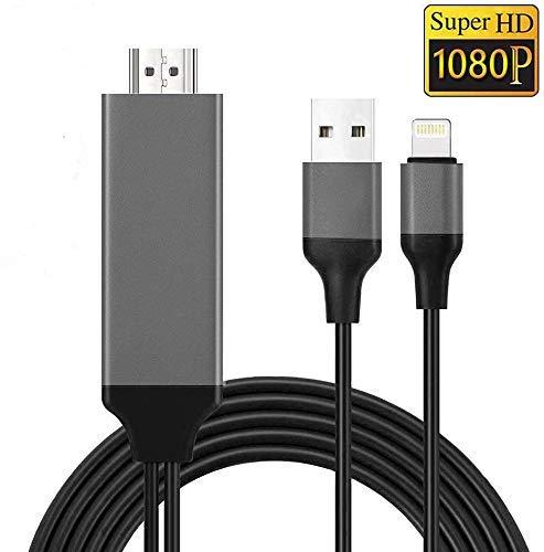 OPPEY HDMI-Kabeladapter Kompatibel mit iPhone, 1080P Digital TV HDMI-Kabel, HDMI-Kabel für iPhone zu TV Kompatibel mit iPhone XS/XSmax/XR/X / 8/7/6 / Plus iPad
