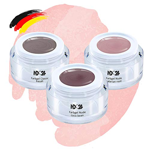 Light Nude Collection Set - Color Gel - Uv Led - Braun Haut Farben - Studio Qualität (3 x 5ml)