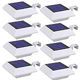 ソーラーライト LED 光センサーライト 壁掛けライト 太陽光発電 暗くなると自動点灯 屋外 屋根 玄関 廊下 軒先 庭 駐車場 防水 防犯ライト 取付簡単 8個セット(昼白色)