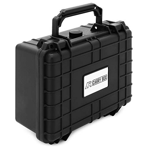 AR CARRY BOX - Maletín de plástico para exteriores, color negro