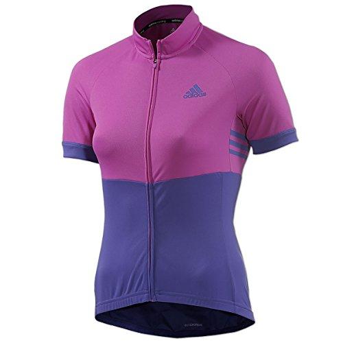 adidas Response Team Radtrikot Damen Cycling Jersey Radshirt (flapnk/ngtfla/black, L)