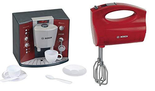 Theo Klein 9569 - BOSCH Kaffeemaschine mit Sound, Spielzeug & Klein 9574 - Bosch Handmixer, Spielzeug