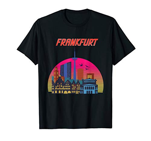 Frankfurt Retro Skyline | Frankfurt am Main T-Shirt