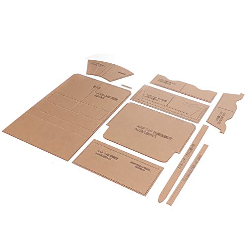 KUIDAMOS 10 Piezas de Plantilla de Plantilla acrílica de Monedero Largo para Manualidades de Patchwork