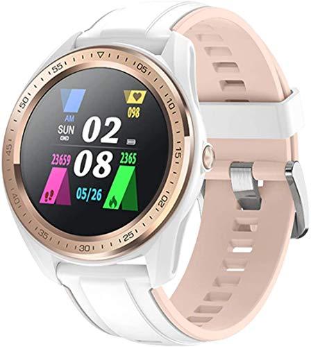 JSL Smartwatch Reloj Deportivo Femenino Ciclo Menstrual Multi-Función Información Recordatorio de Llamada Pulsera Ip68 Impermeable Upscale/Azul-Blanco