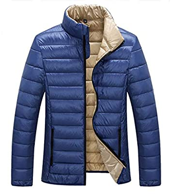 ZSHOW Men's Packable Down Jacket Lightweight Quilted Winter Coat(Blue,X-Large)