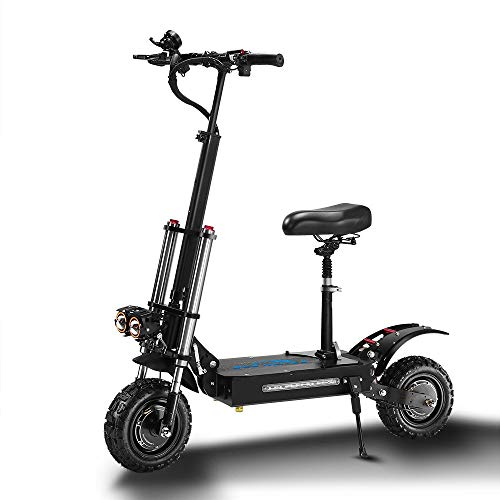 GGXX Electric Scooter, 11-Inch Tire 60V 5600W Dual-Drive Off-Road City Scooter, Fastest Speed 85km/H, Mini Folding Scooter, with LED Display, Electronic Anti-Theft System