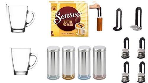 """Guten Morgen XL + 4x Original für Senseo passend und anderer Fabrikate Paddosen\""""James Premium®\"""" mit Padlifter plus"""