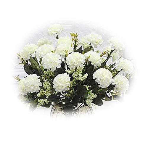 ZHOUBA Deals Künstliche Seidenblumengestecke für Zuhause, Hochzeit, Party, Möbel, Dekoration, 1 Stück weiß