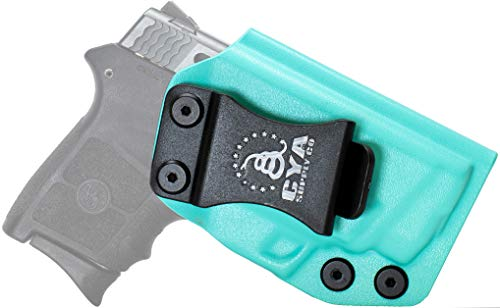 CYA Supply Co. Fits S&W M&P Bodyguard 380 Crimson Trace Inside Waistband Holster Concealed Carry IWB Veteran Owned Company (Teal Blue, 043- S&W M&P Bodyguard Crimson Trace)