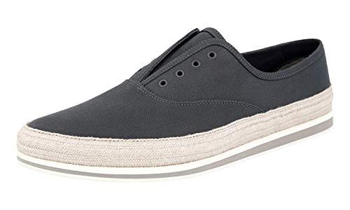 Prada Herren Grau Stoff Schuhe 4E3114 43 EU/UK 9
