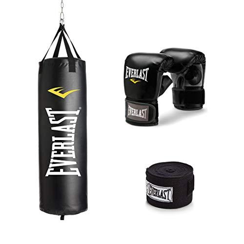 Everlast 70Lb Heavy Bag Kit Black/White, 70lbs