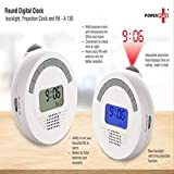 meenamart Plastic Digital LED Projection Projector Alarm Clock with Temperature and FM