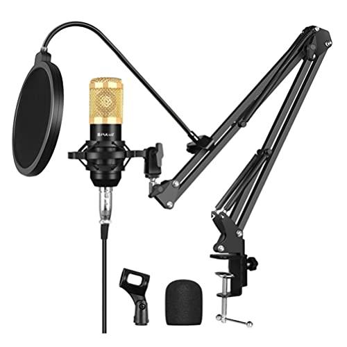 Holibanna Micrófono de Ordenador Condensador de Ordenador Gaming Mic Plug & Play con Brazo de Suspensión Soporte de Tarjeta de Sonido Mic Cubierta para Grabación Vocal Podcasting Streaming