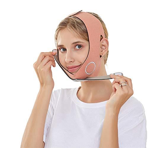 Dr.Taylor V Face Slimming Strap con Grafeno para Mujeres, Anti Arrugas, Anti Envejecimiento, Reutilizable, Transpirable con Cinturón de Elevación de Cara con Forma de V Transpirable,Naranja
