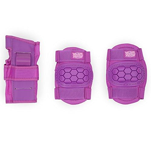 Xootz Schutzkleidung für Kinder, für Knie, Ellenbogen und Handgelenk, Violett, Größe M