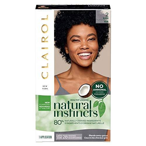 Clairol Natural Instincts Semi-Permanent, 2 Black, Midnight, 1 Count Kentucky
